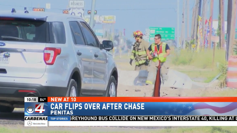 High Speed Chase Ends in a Rollover