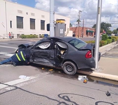 Negligent Driver Runs Red Light, Injures Innocent Victim