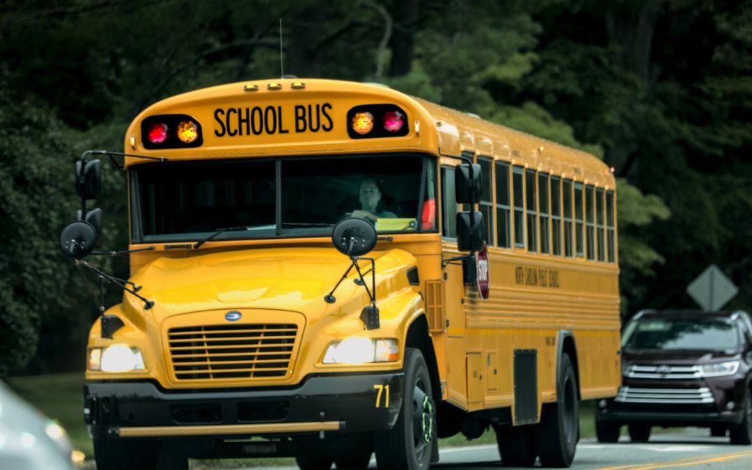 Border Patrol Vehicle Collides Into School Bus