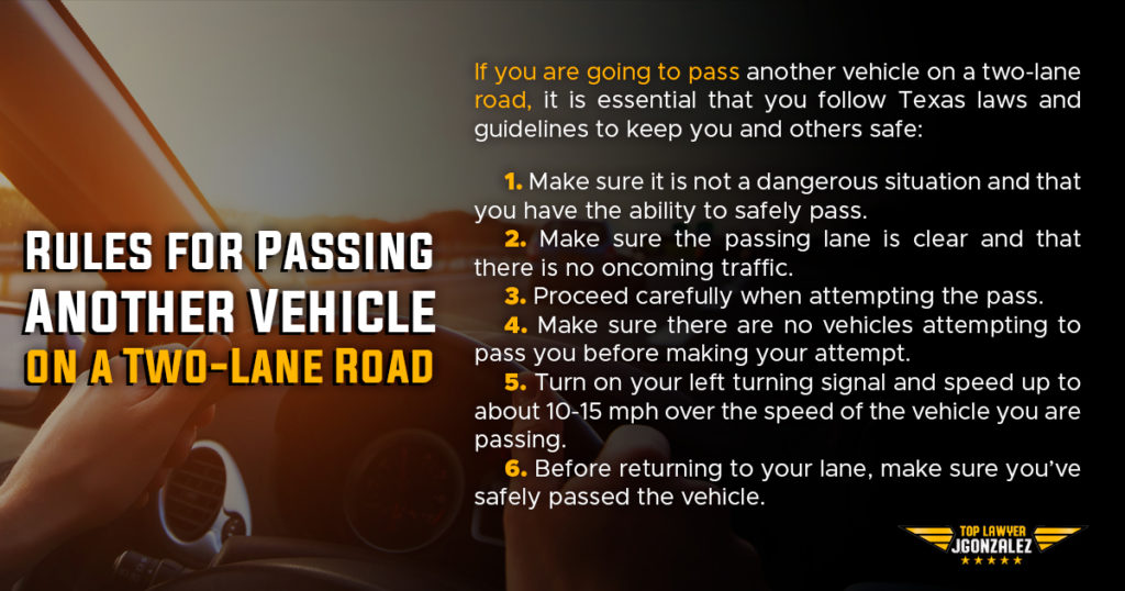 Rules for Passing another vehicle